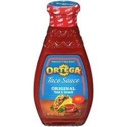 Ortega Hot Taco Sauce 226g, 8oz) | American | Buy Online | UK