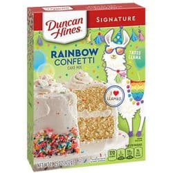 Rainbow Confetti Cake Mix | Duncan Hines | American | Buy Online | UK | Europe