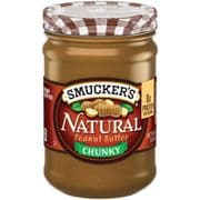 Smuckers Chunky Natural Peanut Butter (American)