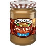 Smuckers Creamy Natural Peanut Butter (American)