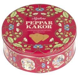 Nyakers Ginger Heart Biscuits 400g | Red Tin | Swedish | Pepparkakor | Buy Online | UK