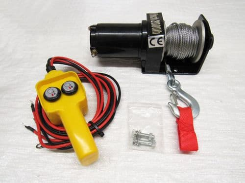 12V 2000LB Electric Recovery Winch - Trailer Truck Boat ATV Car Van Wired Remote