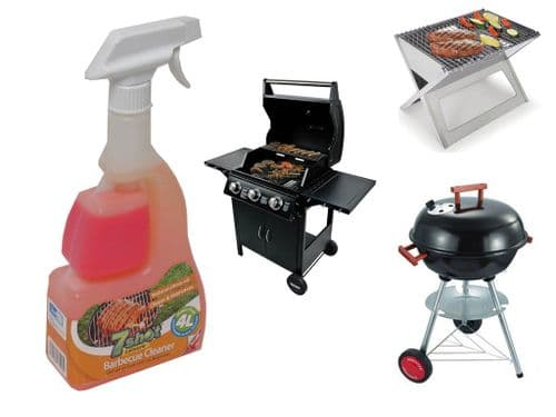 BBQ Grill Cleaner Spray 7 Shot (Barbeque Gas Charcoal Natural Cleaning Degreaser)