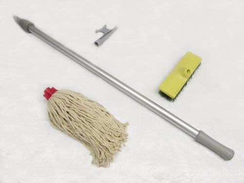 Boat Maintenance Kit With Hook Mop & Brush - Extension Cleaning Deck Decker Docking