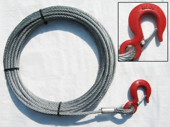 Hand Winch Cables Fitted With Hooks (Non Lifting)