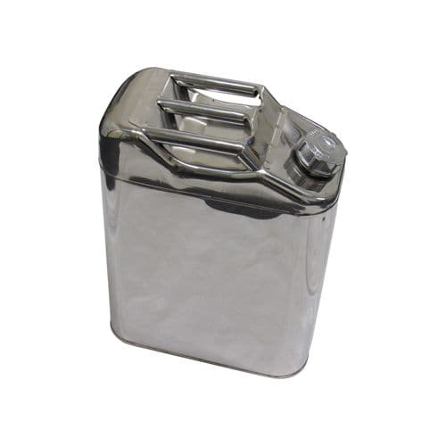 Stainless Steel Jerry Can 20L (Water Fuel Petrol Diesel Metal Container)