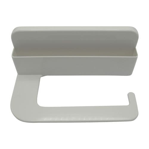 Stick On Toilet Roll Holder with Mobile Phone Slot - White Self Adhesive