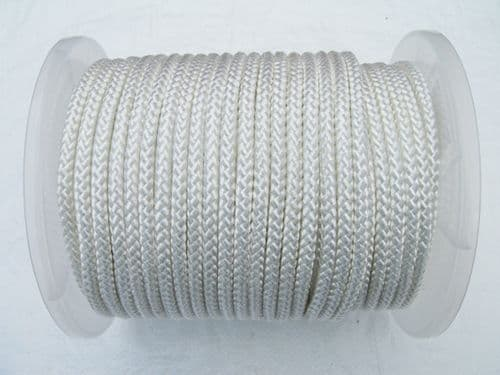 White Braided Polyester Rope ( Dinghy / Marine / Sailing / Halyards / Control Lines )