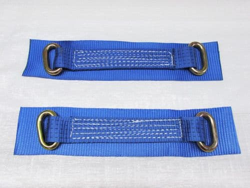 """x2 12"""" Oval Link Wheel Straps - Recovery Bridging Trailer Car Vehicle Web Alloy"""
