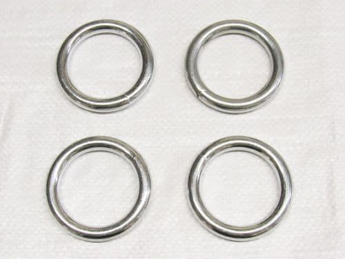 X4 10MM x 70MM Zinc Plated Round Rings - O Welded Steel